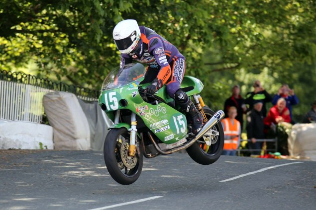 IOMTT: Ballaugh Bridge with Richard Mushet 2014 Isle of Man TT Ballaugh Bridge Richard Mushet 01 635x423
