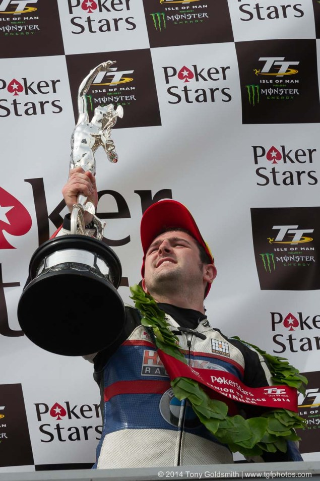 Michael Dunlop Wins Joey Dunlop TT Championship, Again 2014 Isle of Man TT Grandstand Tony Goldsmith 09 635x954