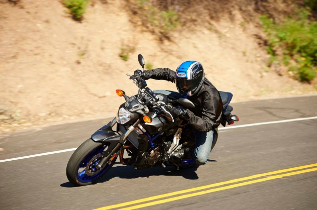 Dont Call It the MT 07, Yamaha FZ 07 Coming to the USA 2015 Yamaha FZ 07 action 06 635x422