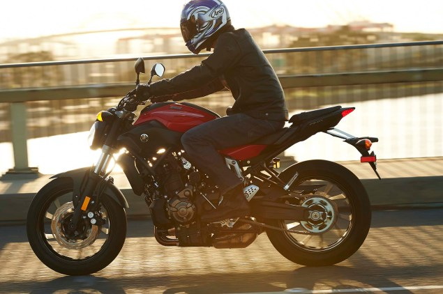 Dont Call It the MT 07, Yamaha FZ 07 Coming to the USA 2015 Yamaha FZ 07 action 11 635x422