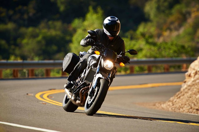 Dont Call It the MT 07, Yamaha FZ 07 Coming to the USA 2015 Yamaha FZ 07 action 34 635x422