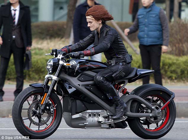 An Electric Harley Davidson Spotted on a Hollywood Set? Avengers electric Harley Davidson 02