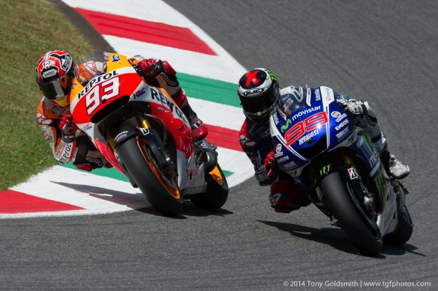 MotoGP: Race Results from Mugello marc marquez jorge lorenzo motogp mugello italian gp tony goldsmith 635x422