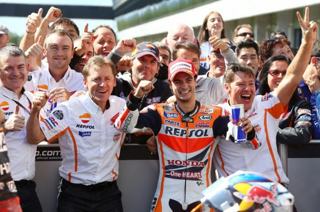 Sunday Summary at Brno: Breaking The Streak dani pedrosa brno motogp hrc1 635x421