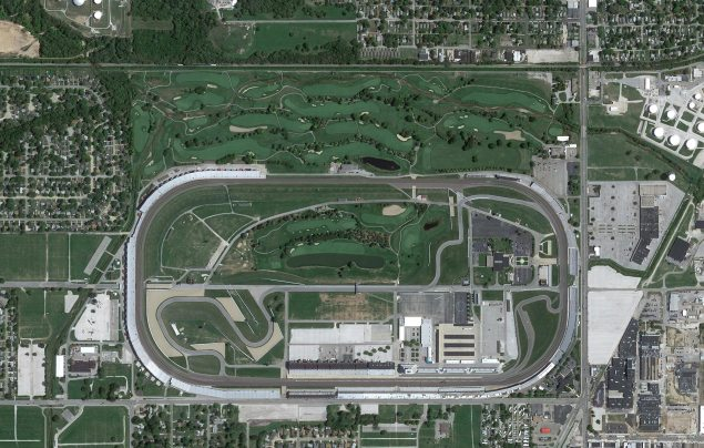 Whats Bigger: Indy Motor Speedway or Big 10 Football? indianapolis motor speedway aerial 635x404