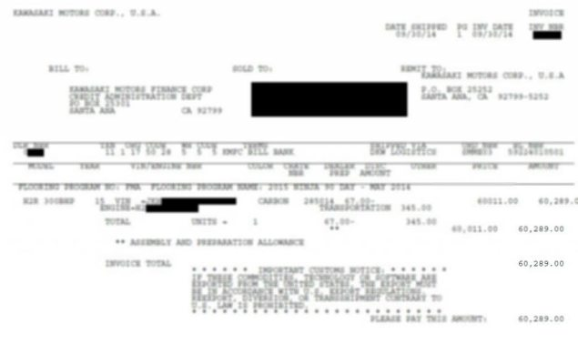 Is This How Much the Kawasaki Ninja H2R Will Cost? Nope. fake kawasaki ninja h2r invoice blur 635x378