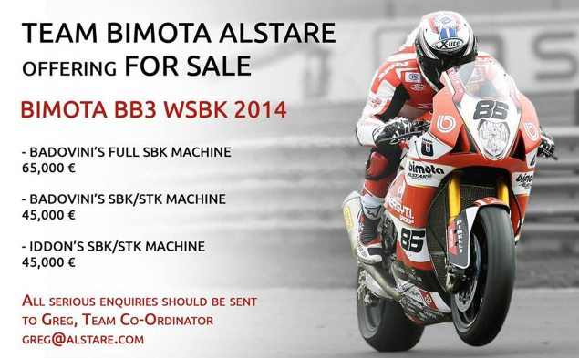 Buy a WSBK Race Bike, Just in Time for Christmas bimota bb3 wsbk for sale 635x393