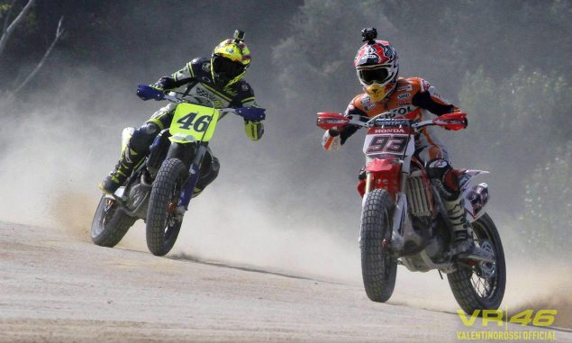 Marquezs Oval vs. Rossis Ranch: Which Is Best for MotoGP? valentino rossi marc marquez moto ranch dirt track 635x381