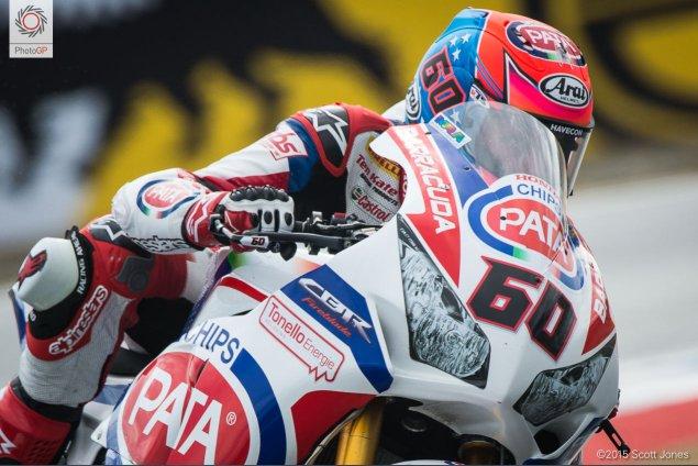 Michael van der Mark Honda WSBK Laguna Seca