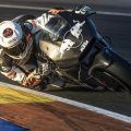 Mika Kallio testing the KTM RC16 MotoGP race bike at Valencia