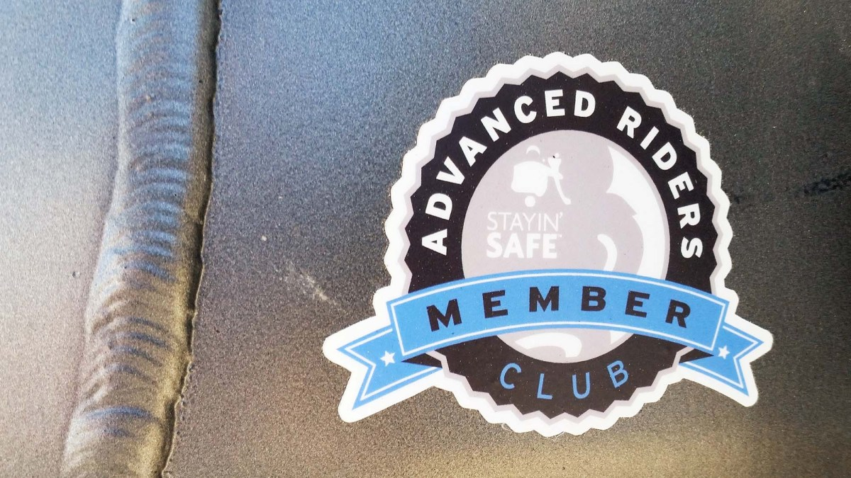 At the Stayin' Safe Advanced Rider Training