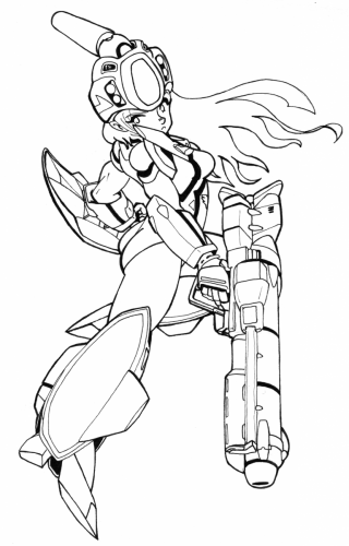 VF-11 Girl (ink)