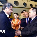 Prime Minister Shahid Khaqan Abbasi received by Mr. Yan Zhaojun, Member of the Standing Committee CPPCC of Sanya upon arrival at Pheonix International Airport Sanya, China on 8th April, 2018.