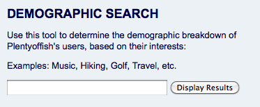 POF Demographic Search