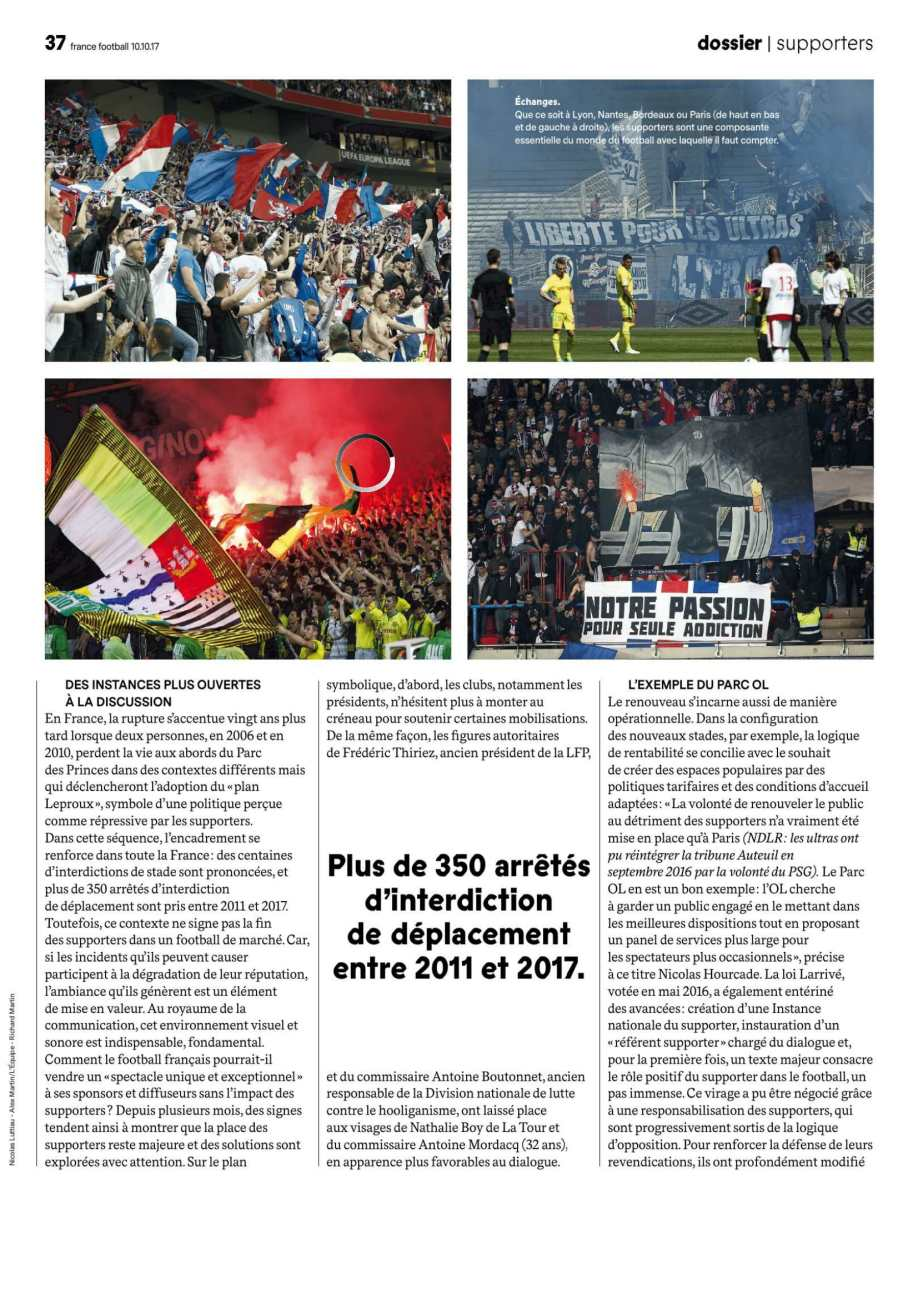 Que veut-on faire des supporters (1)