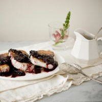 Winter Jewels: Pan Roasted Pork with Ruby Cherry Berry Sauce