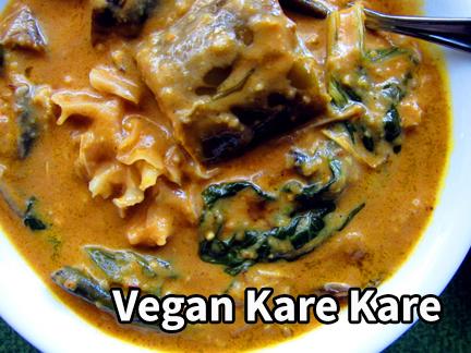 Kare-kare, Vegan