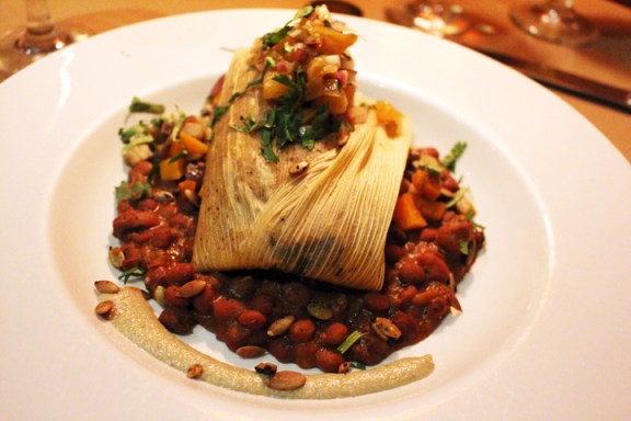 What our friend, Rosie ordered: Vegan Tamales. One of the winners of the night.