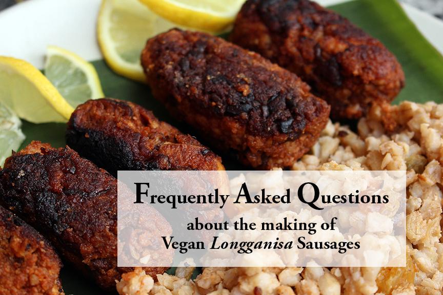 Vegan Longganisa Sausages – FAQ
