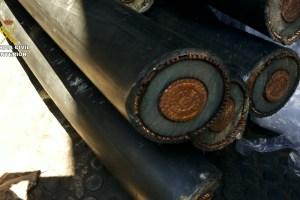 Cable de cobre requisado durante una operación de la Guardia Civil. / Archivo Guardia Civil