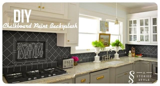 diy tutorial chalkboard paint backsplash 250 home