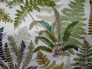 """braemore """"hernanda in granite"""" fern fabric"""