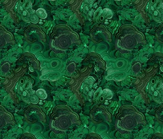 ravynka's malachite fabric via spoonflower
