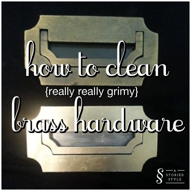 how to clean brass hardware