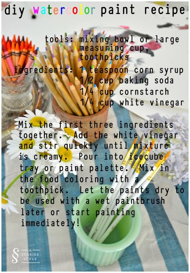 diy watercolor paint recipe