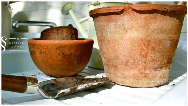 aged pots