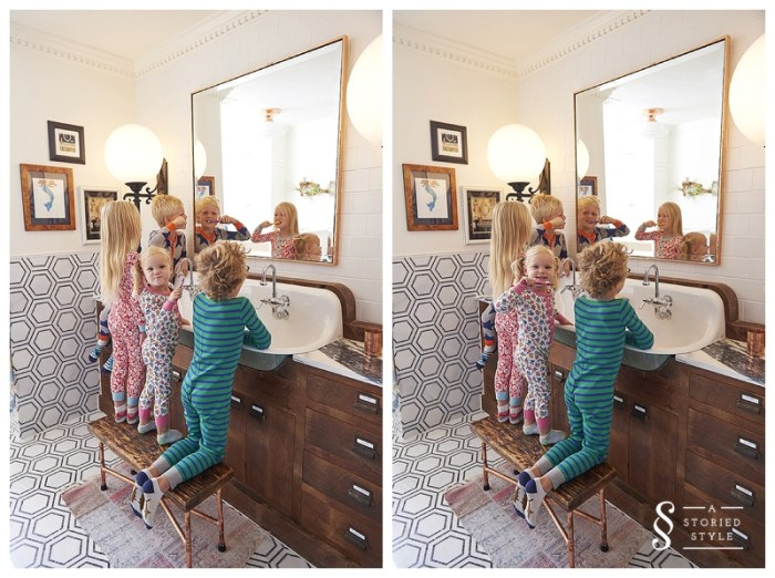 kids at sink