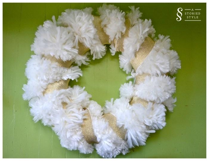 wreath with elastic