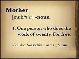 Mothers: reasons to be cheerful.
