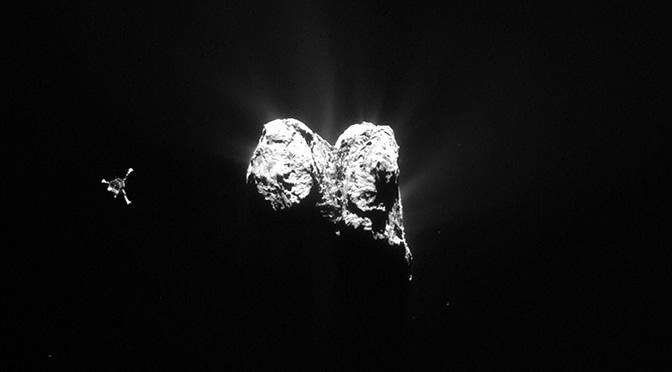 El robot Philae se reactiva en la superficie del cometa 67P