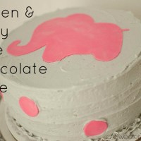 Gluten & Dairy Free Chocolate Cake {For a Baby Shower}
