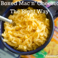 Boxed Mac n' Cheese: The Right Way