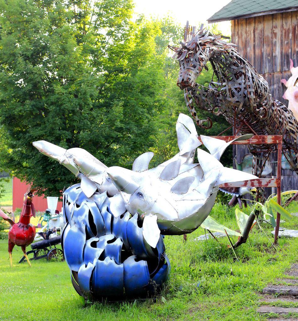 Frog Pond Studio Farm Dolphin Sculpture