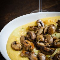 Sautéed mushrooms with creamy polenta