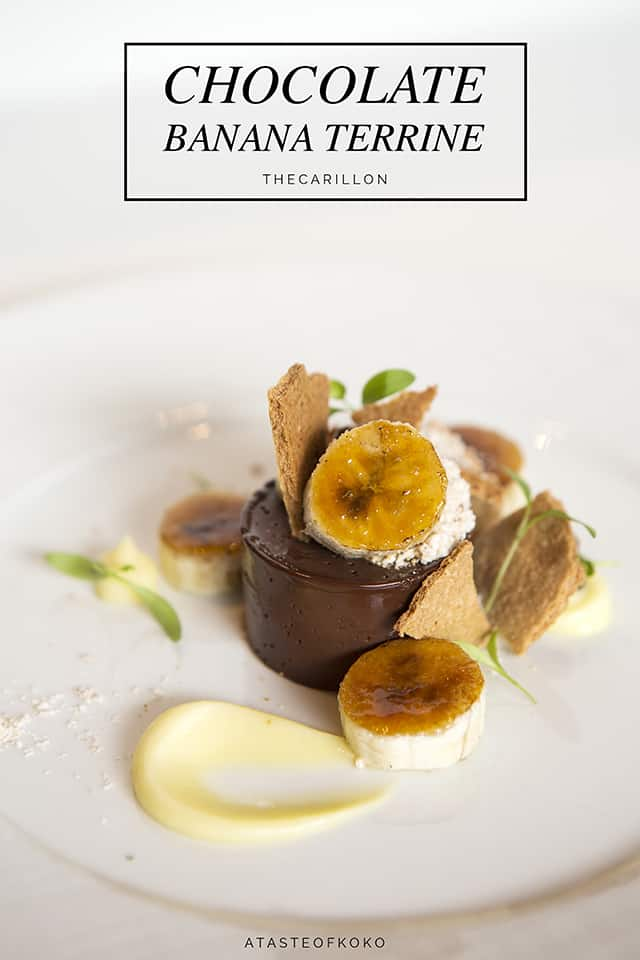 Chocolate banana terrine