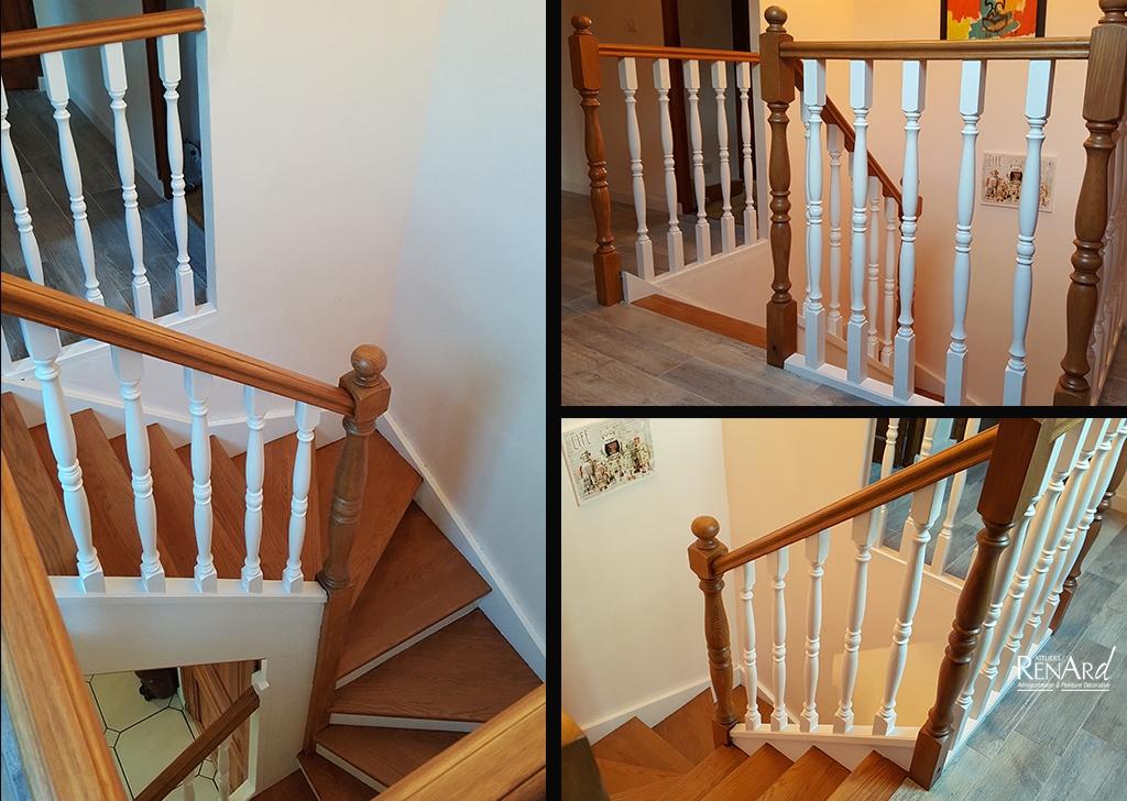 Relooker Son Escalier En Bois. Idee Deco Escalier L Gant Ment ...