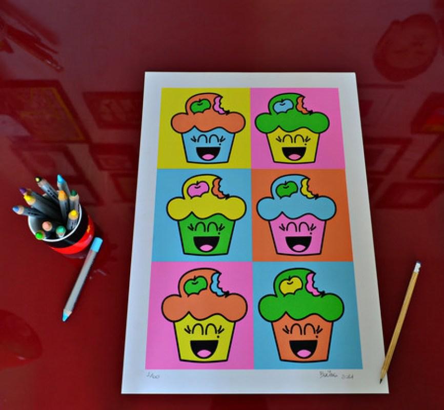 60 cópias, numeradas e assinadas! R$120,00 Tamanho – 35x50cm Técnica – Serigrafia