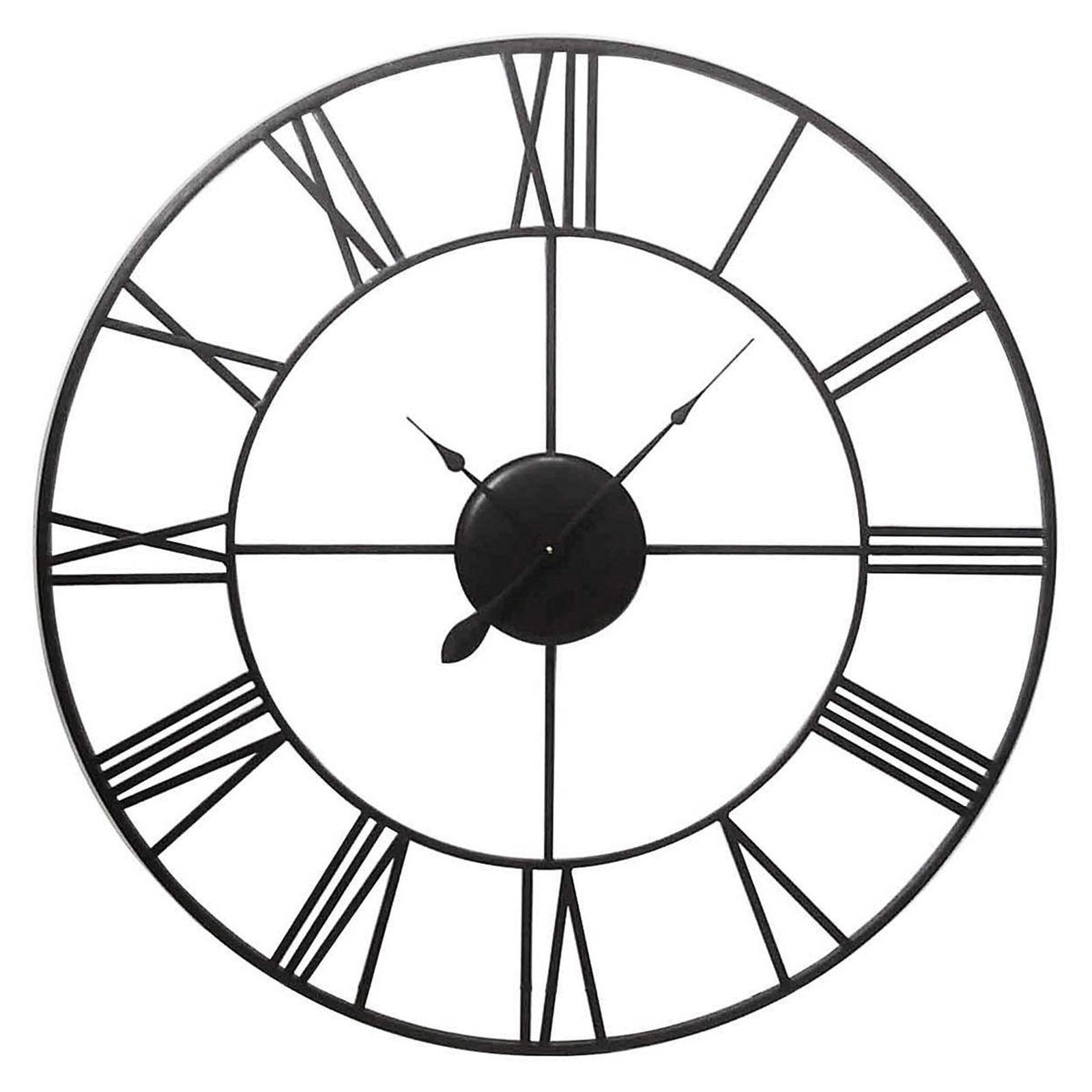 Garage Giant Metal Clock Roman Numerals At Home Roman Numerals Clock Tattoo Ideas Roman Numerals Clock Tattoo Roman Numerals Giant Metal Clock houzz-03 Roman Numerals Clock