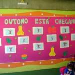 mural de outono das crianças