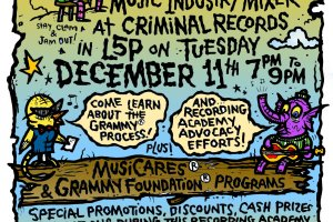 Criminal Records Invites You to a Grammy Industry Mixer on Tuesday, December 11th