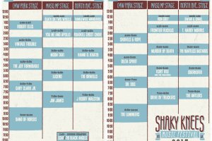 Shaky Knees Music Festival Schedule, 5/4 & 5/5