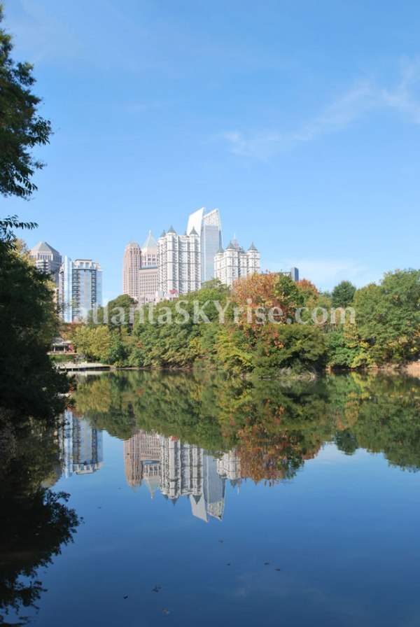 Midtown Atlanta Skyline from Piedmont Park Fall 2012