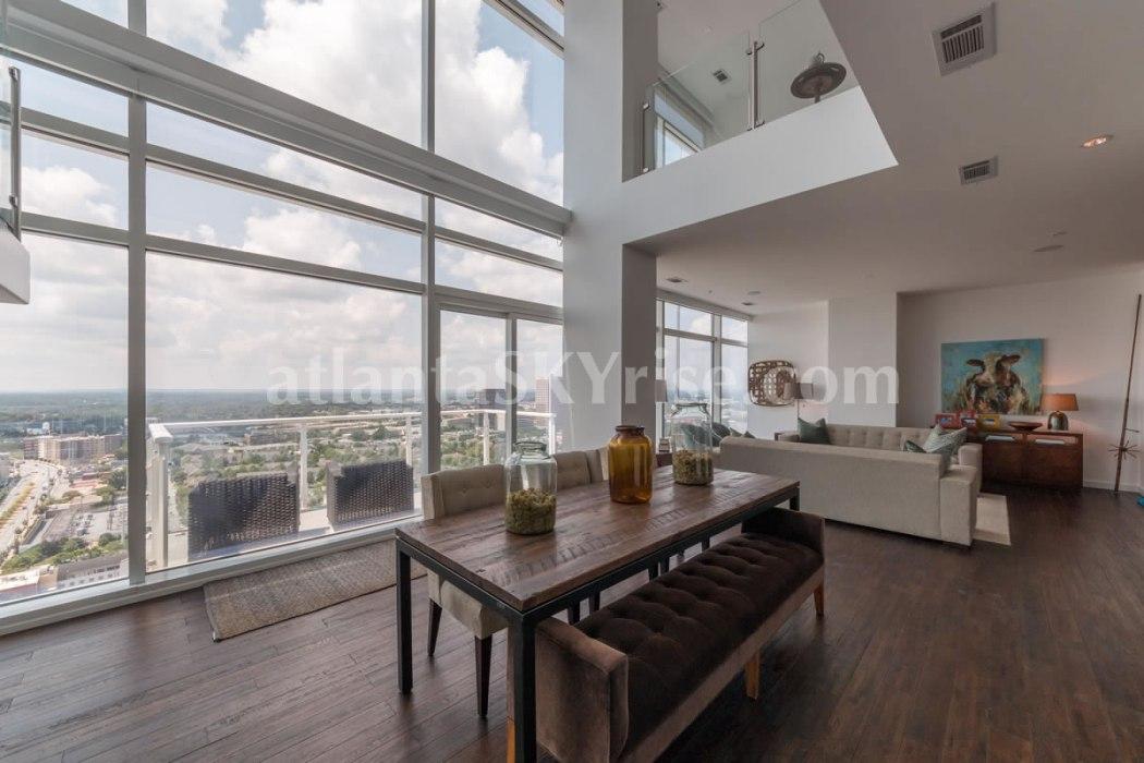 W Residences 45 Ivan Allen Penthouse 2703 Great Room 1