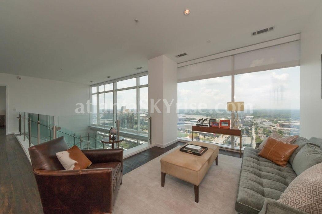 W Residences 45 Ivan Allen Penthouse 2703 Sitting Room 1