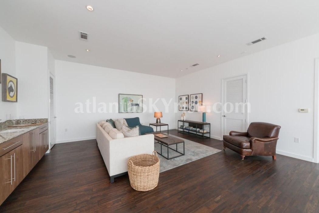 W Residences 45 Ivan Allen Penthouse 2703 Sitting Room 2