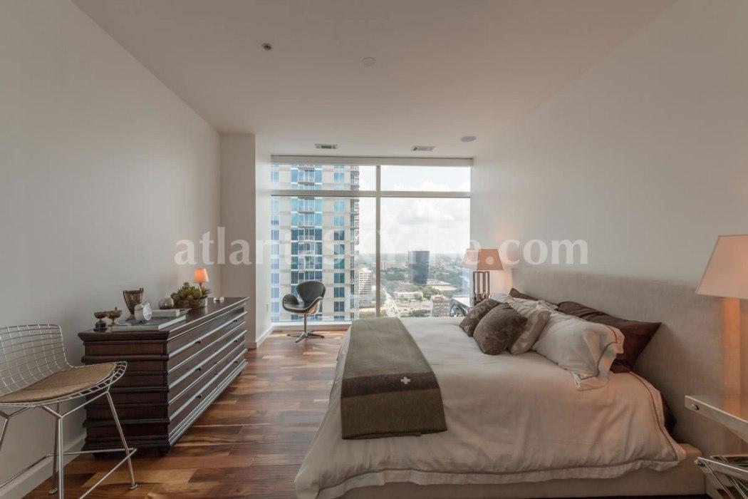 W Residences 45 Ivan Allen Penthouse 2706  Bedroom1